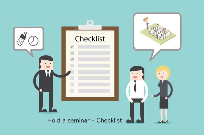セミナー開催当日の運営をスムーズに進める事前準備とチェックリスト