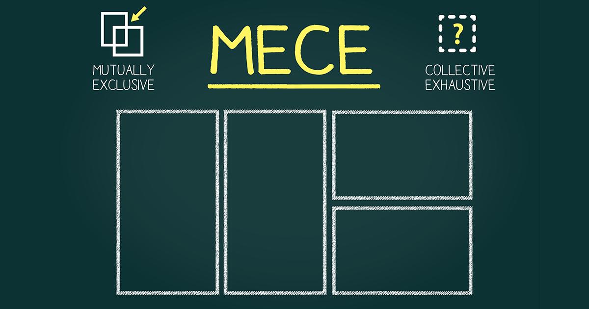 """MECEとは?マーケターなら押さえておきたい""""超""""分解術"""