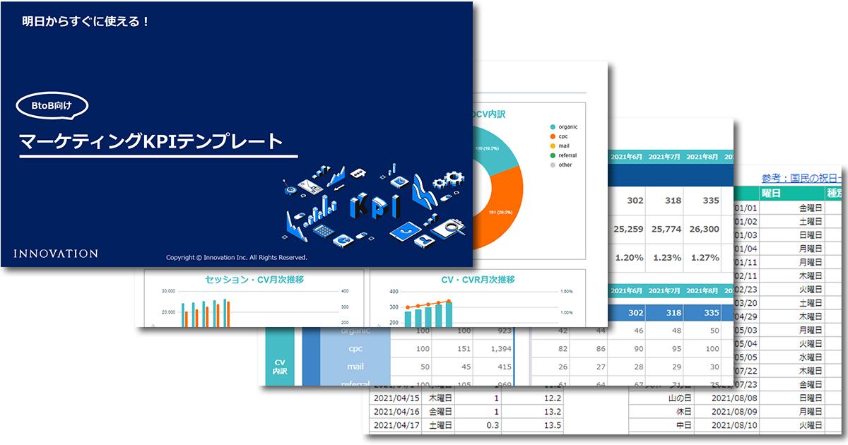BtoBマーケティング KPIテンプレート