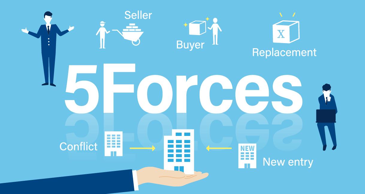 収益性のある事業を判断するファイブフォース分析。5つの要因とは